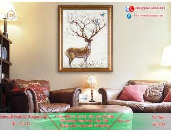 Tranh treo tường sau ghế sofa phong cách mỹ 10