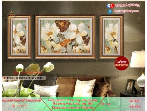 Tranh treo tường sau ghế sofa phong cách mỹ 14