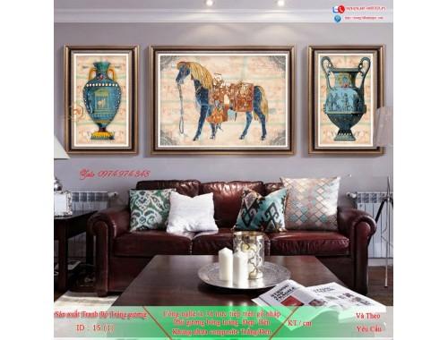 Tranh treo tường sau ghế sofa phong cách mỹ 15