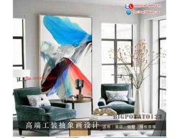 Tranh treo tường sau ghế sofa phong cách mỹ 17