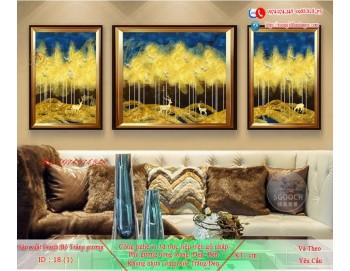 Tranh treo tường sau ghế sofa phong cách mỹ 18