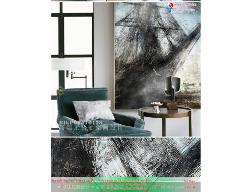 Tranh treo tường sau ghế sofa phong cách mỹ 19