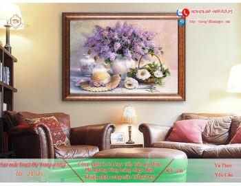 Tranh treo tường sau ghế sofa phong cách mỹ 20