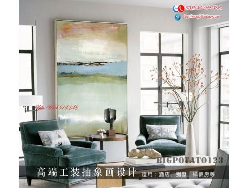 Tranh treo tường sau ghế sofa phong cách mỹ 22