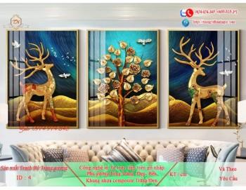 Tranh treo tường sau ghế sofa phong cách mỹ 4