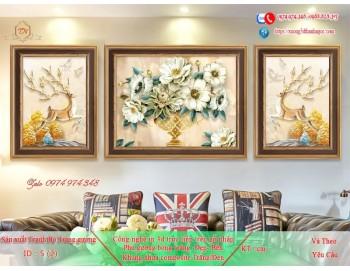 Tranh treo tường sau ghế sofa phong cách mỹ 5