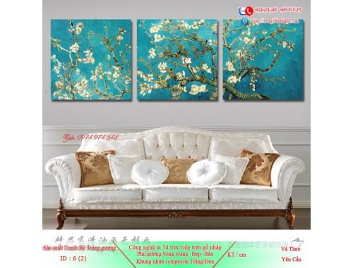 Tranh treo tường sau ghế sofa phong cách mỹ 6