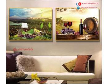 Tranh treo tường sau ghế sofa phong cách mỹ 7