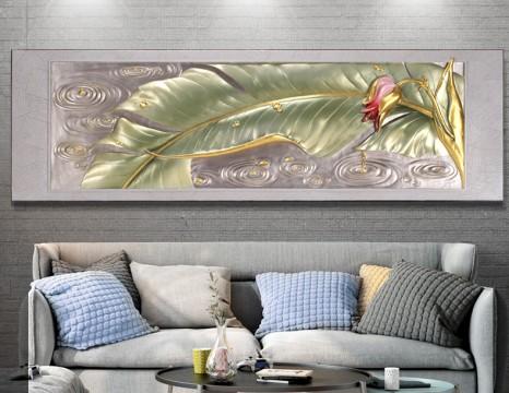 Phù điêu Hoa chuối tinh hoa việt nam 3D