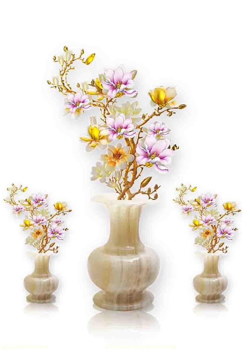 Tranh gạch 3d bình hoa 120