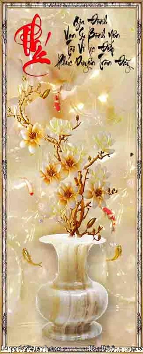 Tranh gạch 3d bình hoa 99