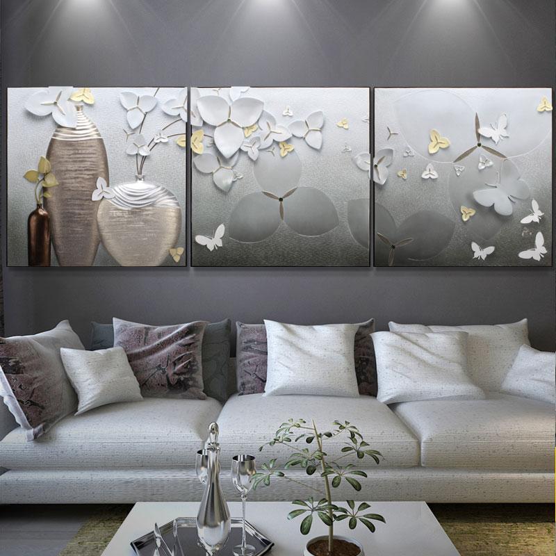Lộc bình hoa lan trắng 70x70 x3