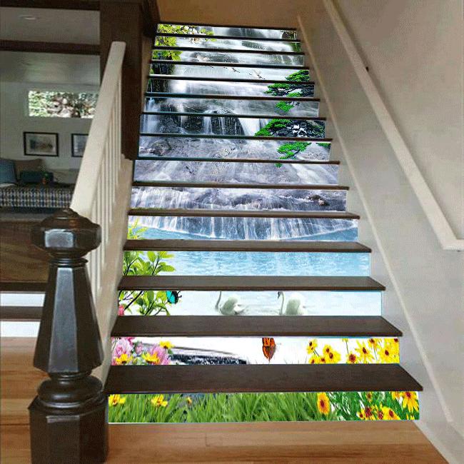 Cầu thang 3D thác nước 28