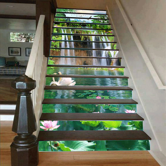 Cầu thang 3D hồ nước 30