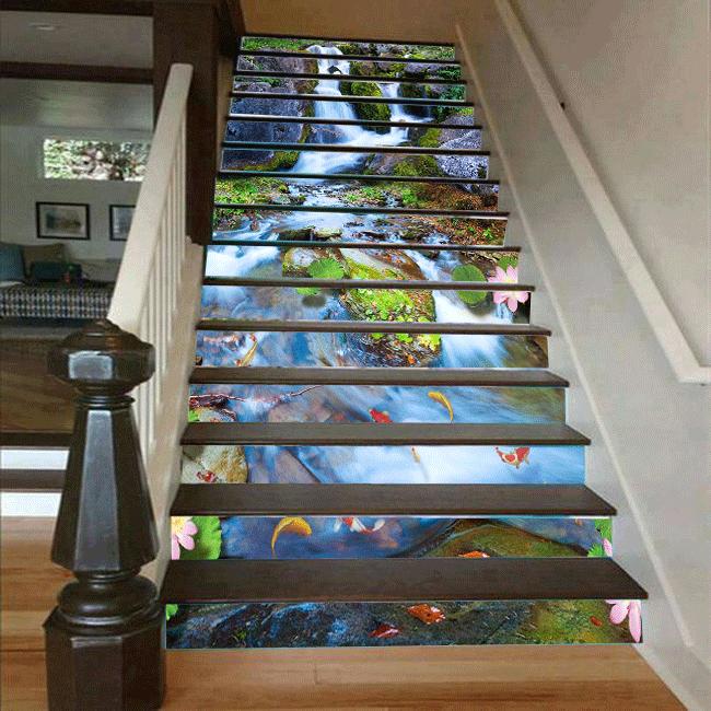 Cầu thang 3D thác nước 45