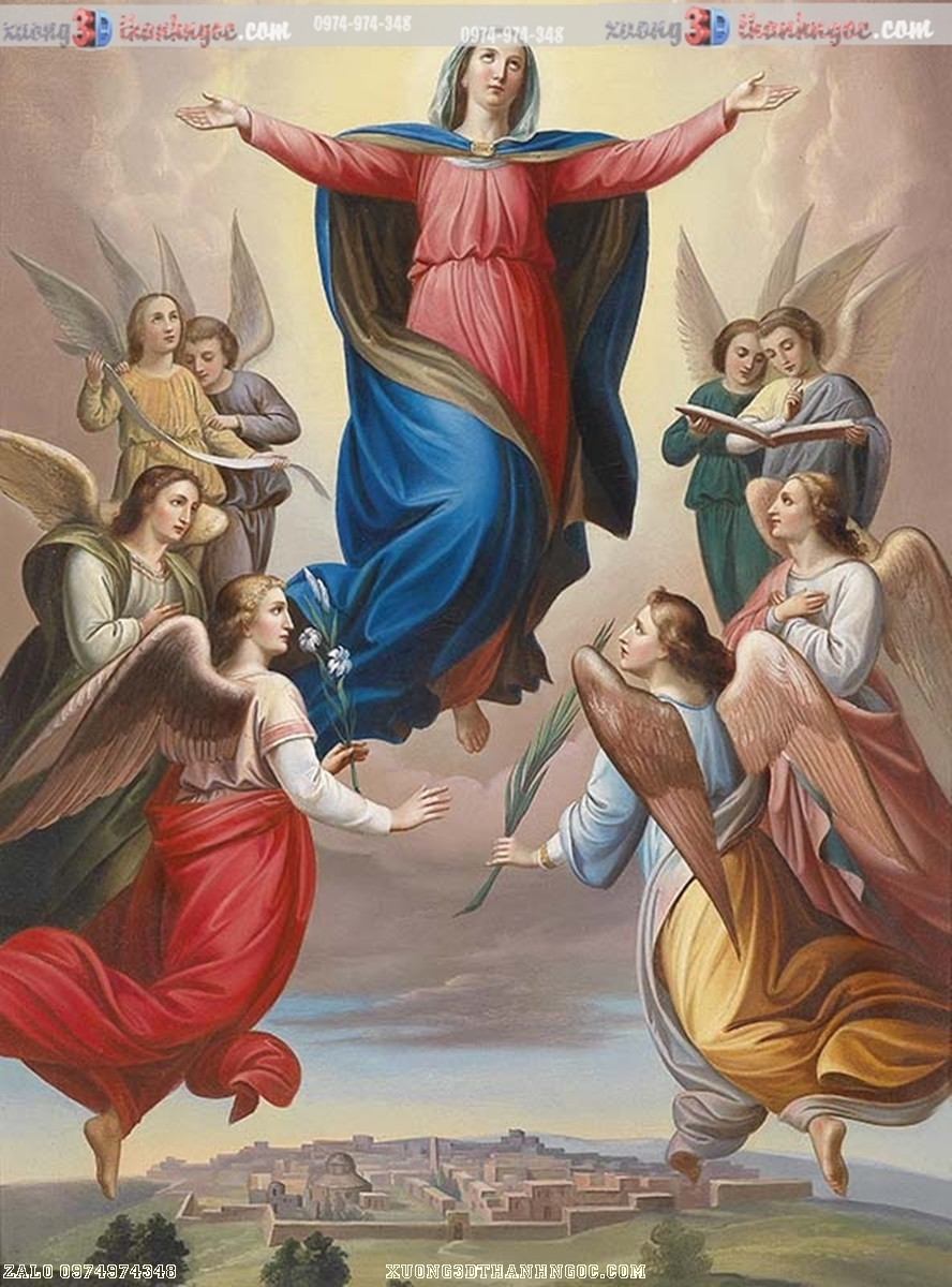 Tranh gạch 3D - Đức mẹ maria