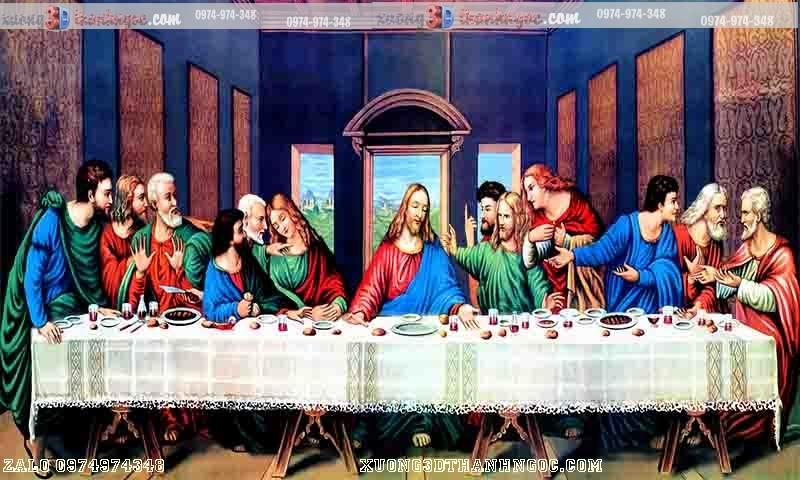 Tranh gạch 3D 12 vị công giáo - tranh bữa tiệc chia ly
