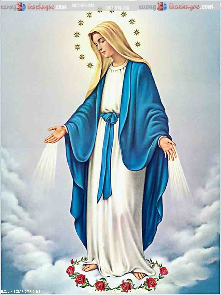 Tranh gạch 3D đức mẹ maria 112