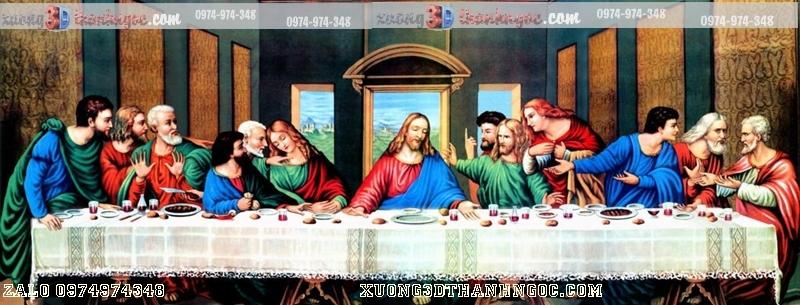Tranh gạch 3D bữa tiệc chia ly- Tranh công giáo 115