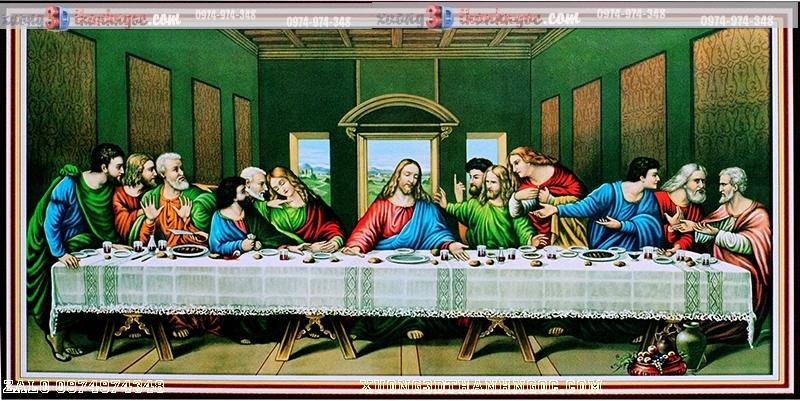 Tranh 3D bữa tiệc chia ly- Tranh công giáo