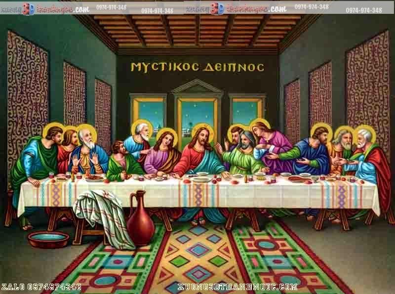 tranh gạch 3D công giáo bữa tiệc chia ly  118 -2