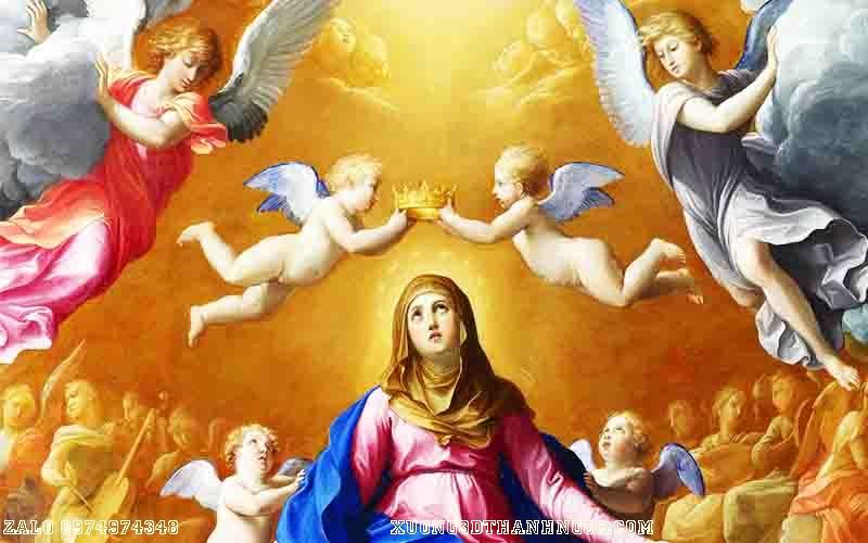 Tranh công giáo đức mẹ thiên thần 124