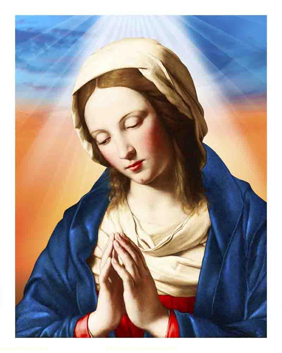 Tranh gạch 3D đức mẹ maria - 126