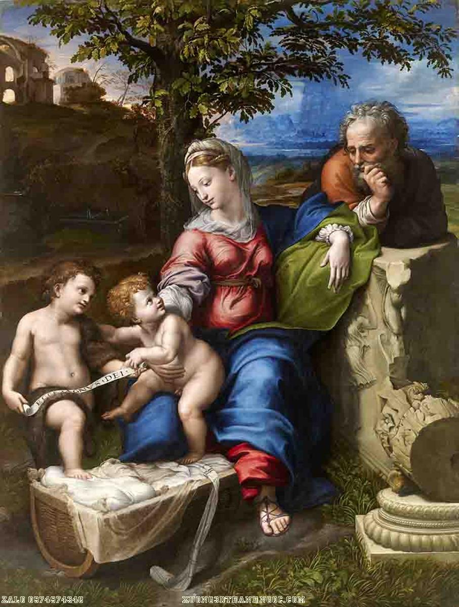 Tranh gạch 3D đức mẹ và những đứa con