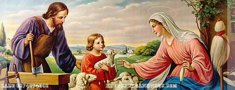 Tranh 3d gia đình thánh gia 152
