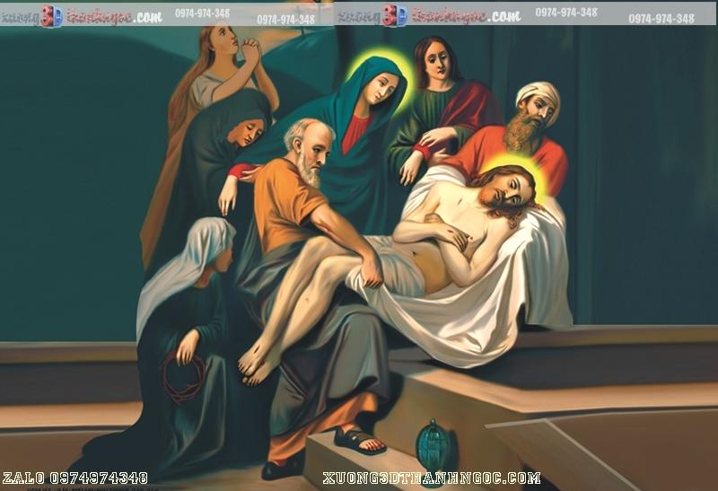 Tranh gạch 3D công giáo -14 đàng khổ ải chúa giê su