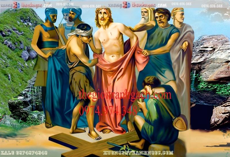 Tranh 14 đàng khổ ải đức chúa- Tranh gạch 3D công giáo 28