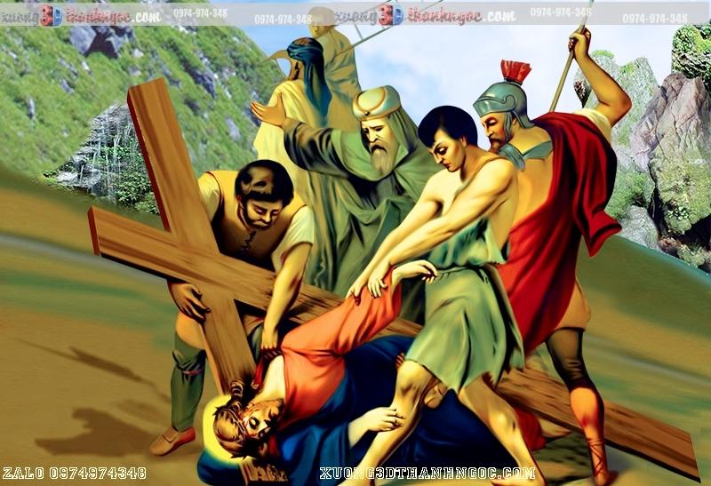 Tranh 14 đàng khổ ải đức chúa- Tranh gạch 3D công giáo 29