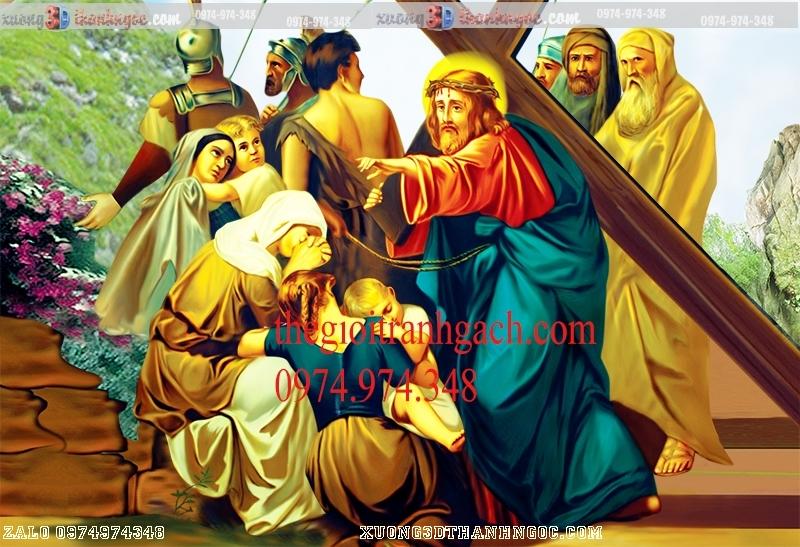 Tranh 14 đàng khổ ải đức chúa- Tranh gạch 3D công giáo 30