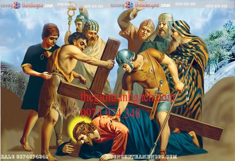 Tranh 14 đàng khổ ải đức chúa- Tranh gạch 3D công giáo 31