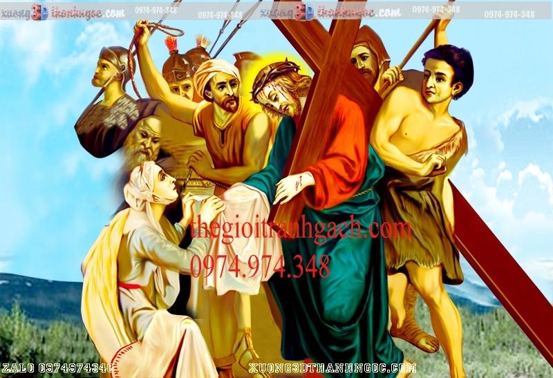 Tranh 14 đàng khổ ải đức chúa- Tranh gạch 3D công giáo 32
