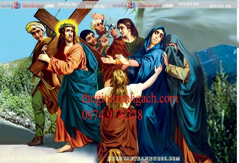 Tranh 14 đàng khổ ải đức chúa- Tranh gạch 3D công giáo 33