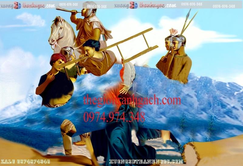 Tranh 14 đàng khổ ải đức chúa- Tranh gạch 3D công giáo 34