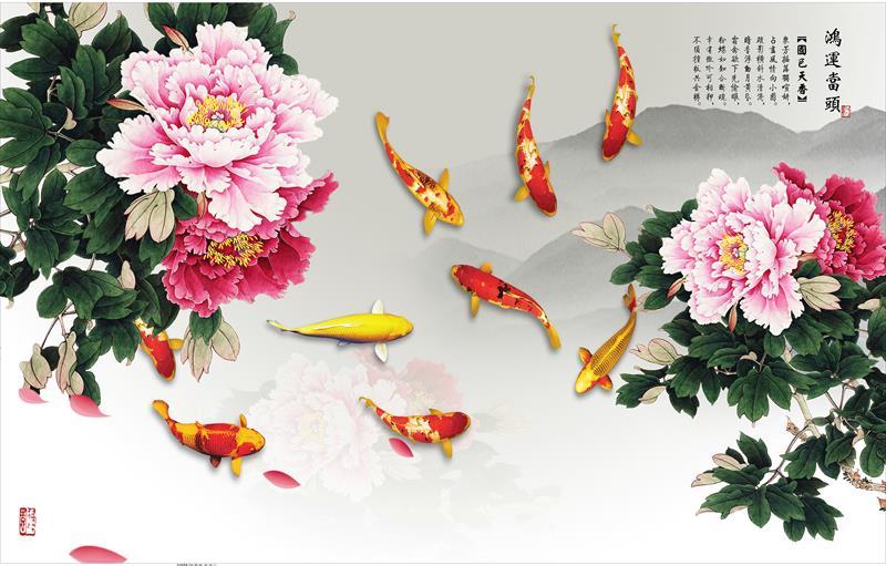 tranh 3d cá chép