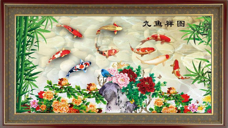 tranh gạch 3d cá chép