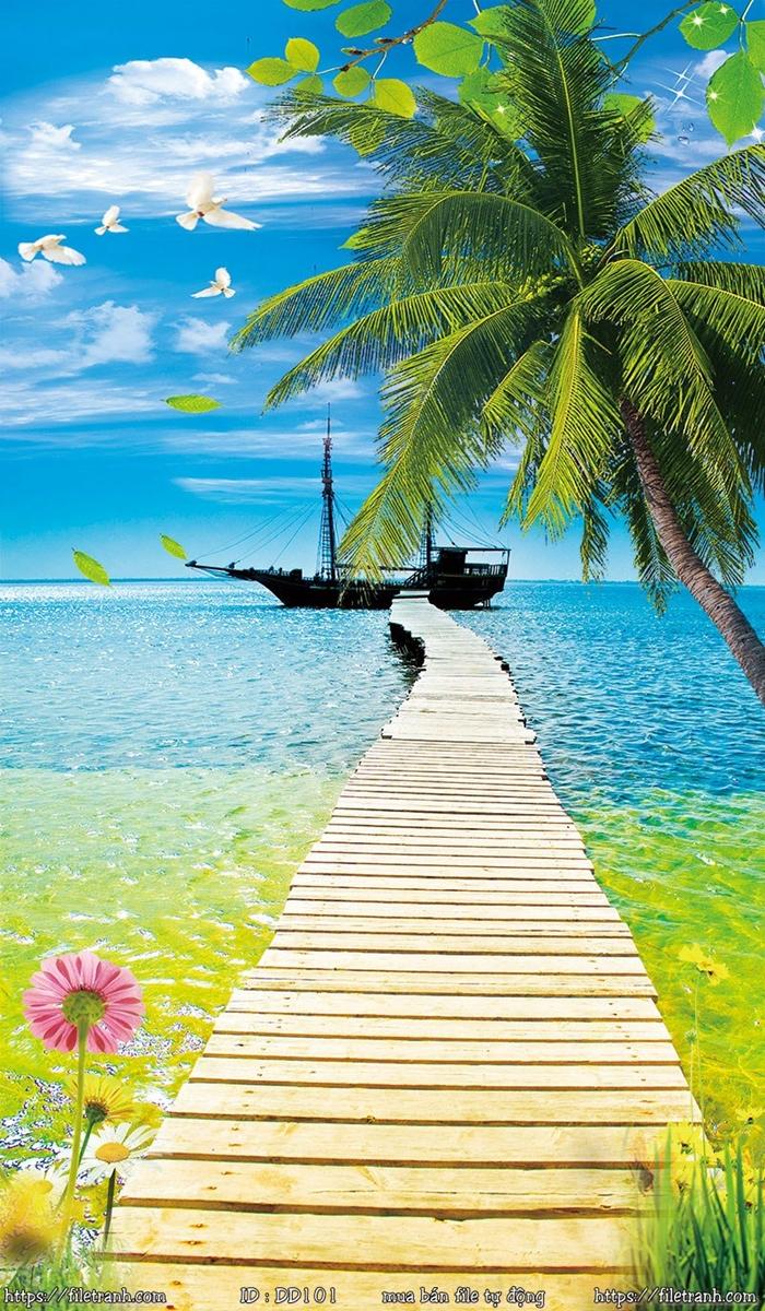 Tranh 3d đại dương cảnh biển 101