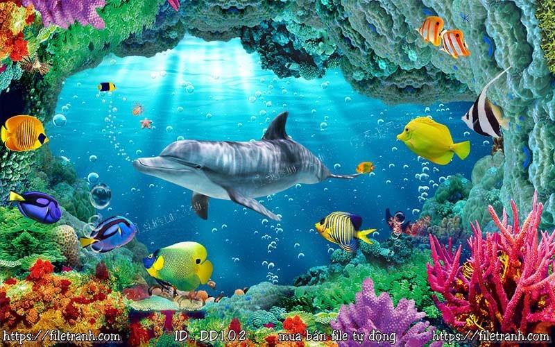 Tranh 3d đại dương cảnh biển 102