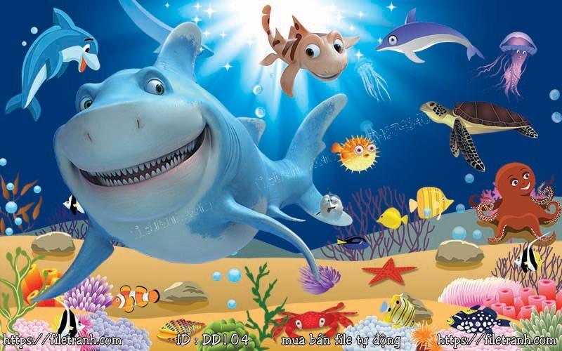 Tranh 3d đại dương cảnh biển 104