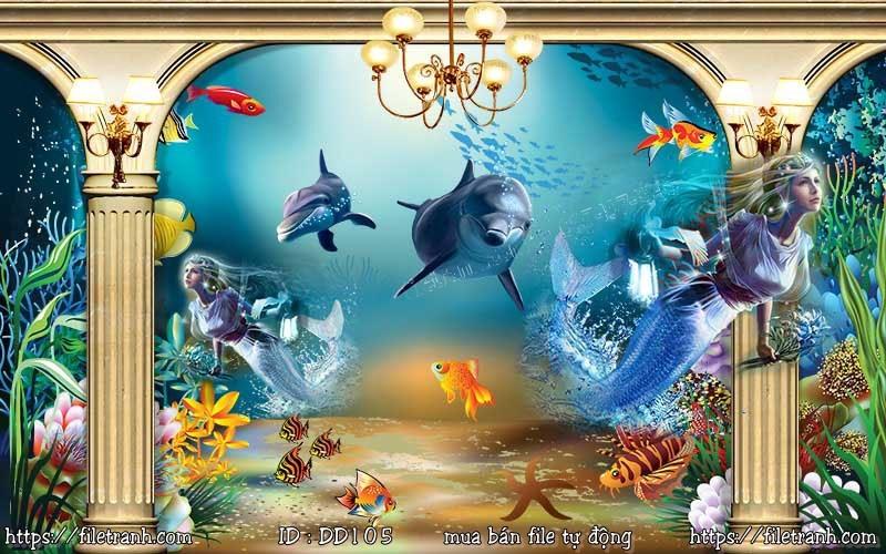 Tranh 3d đại dương cảnh biển 105