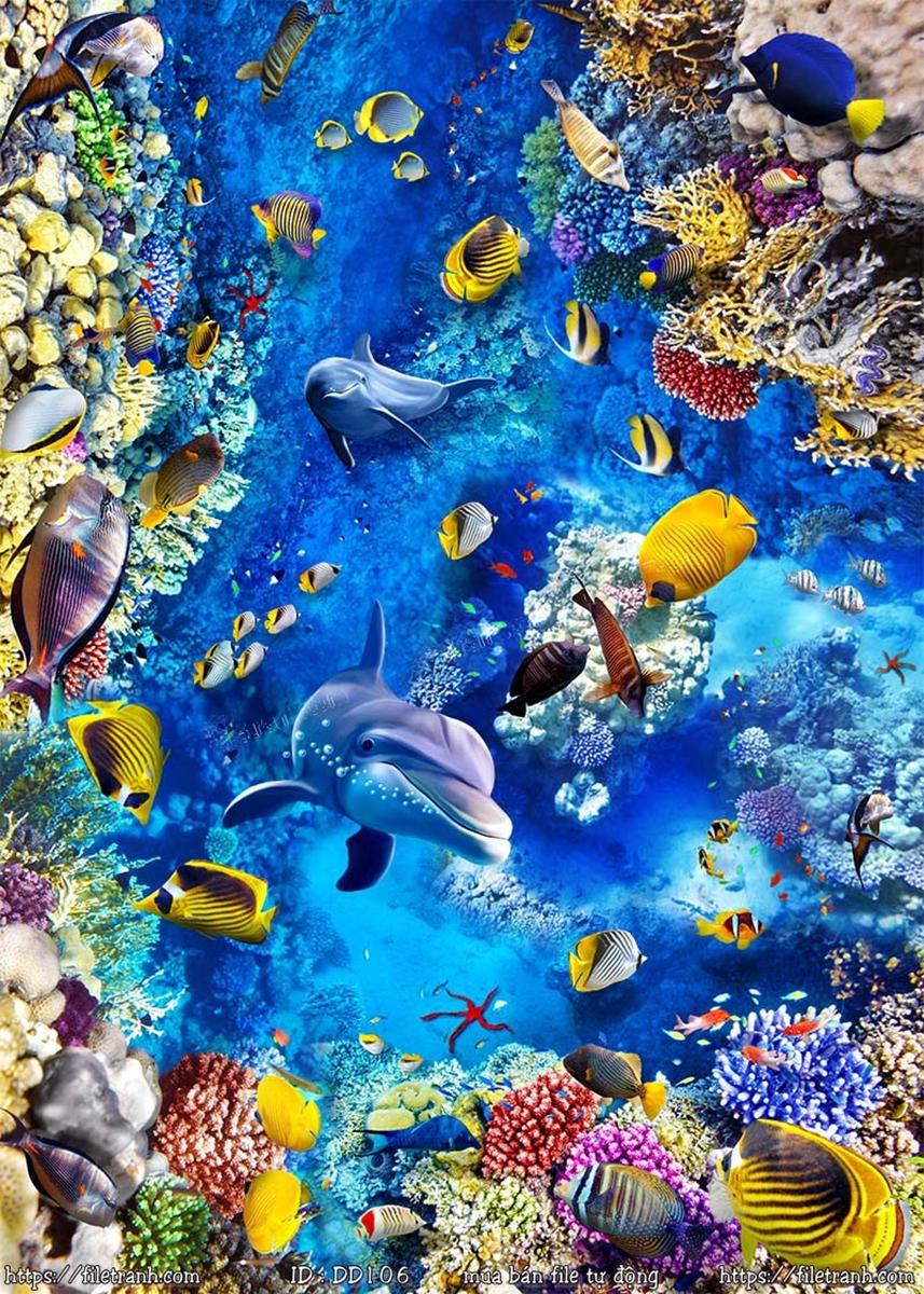 Tranh 3d đại dương cảnh biển 106