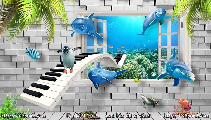 Tranh 3d đại dương cảnh biển 107