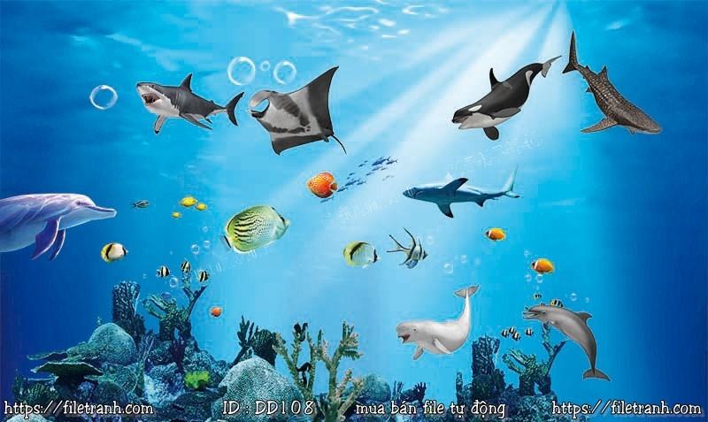 Tranh 3d đại dương cảnh biển 108
