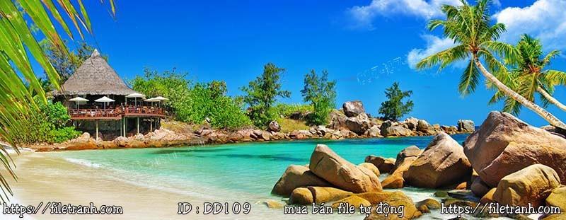 Tranh 3d đại dương cảnh biển 109