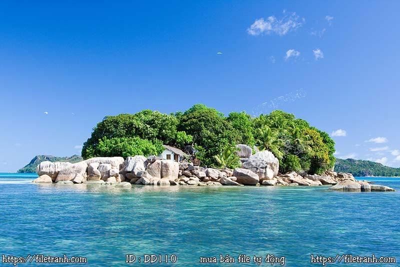 Tranh 3d đại dương cảnh biển 110
