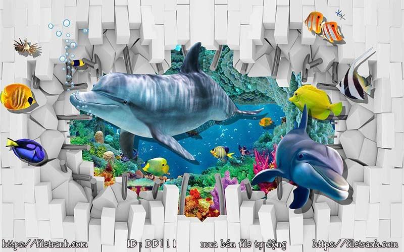 Tranh 3d đại dương cảnh biển 111