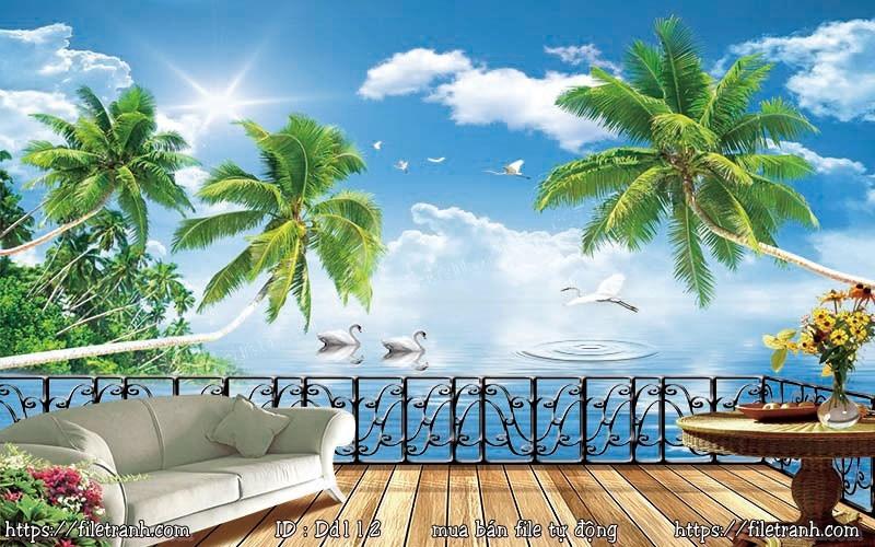 Tranh 3d đại dương cảnh biển 112
